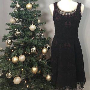Catherine Malandrino Dress Size 4 Maroon Textured